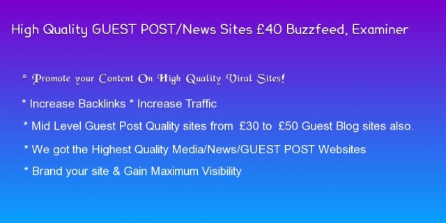 Guest Post Prices – London Guest Post UK Services| HQ Guest